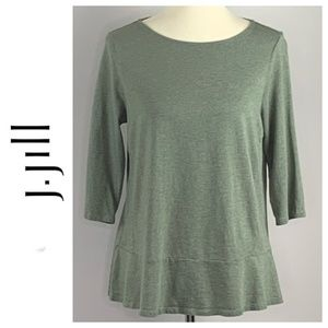 J. Jill Pure Jill Soft Green Tunic Shirt Medium